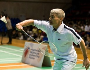 Cosmonauts Prevail in 'Space' Badminton