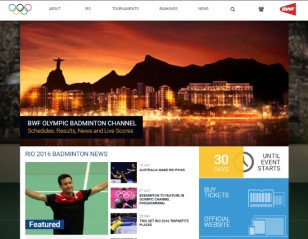 BWF Launches Olympic Website
