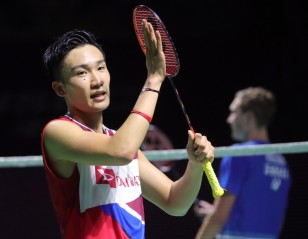 Momota Heads Home After All-Clear From Hospital