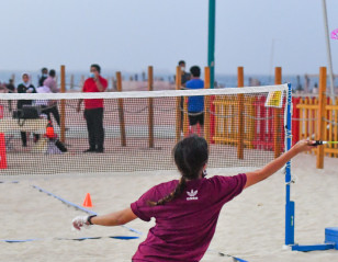 AirBadminton Makes Mark at Beach Sports Week in Dubai